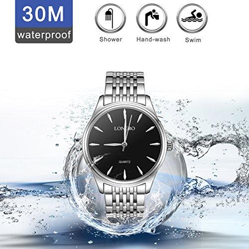 Damen-Herren-UhrenEdelstahl-Wasserdichte-Quarzuhr-fr-MnnerFrauen-Paar-Kleid-Geschfts-Mode-Zufllige-ArmbanduhrenDamenHerren
