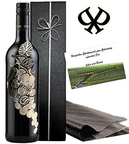 Italien-Weingeschenk-Luva-Bella-Rotwein-Geschenkset-Toskana-Weinrebe-in-Silber-3D-Luxus-Wein-fr-Experten-Alternative-zu-Chianti-oder-Barolo-Brunello