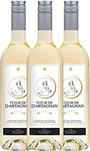 3er-Paket-Fleur-de-dArtagnan-Blanc-2017-Plaimont-trockener-Weiwein-franzsischer-Sommerwein-aus-Sud-Ouest-3-x-075-Liter