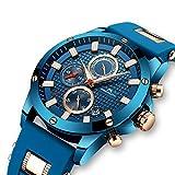Herren-Uhren-Mnner-Wasserdicht-Sport-Chronograph-Groe-Rose-Gold-Armbanduhr-Mann-Luxus-Leuchtende-Datum-Kalender-Analoge-Blau-Gummi-Uhr
