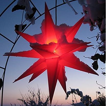 Mit-LED-auswechselbar-Auenstern-Stern-rot-ca-55-cm-wetterfest-im-Set-mit-Kabel-ink-LED-Leuchtmittel-StaRt-NDL-DUH-E14-35W-104-Dioden-kein-stranflliger-Trafo-ntig