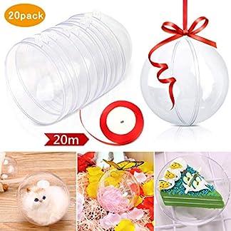 Weihnachtskugeln-Baumschmuck-Gifort-DIY-20-Stck-8cm-Weihnachtsbaumschmuck-Klar-Kunststoff-Befllen-Weihnachten-Deko-Christbaumschmuck-Plastik-Kugeln-mit-20m-Rot-Seil-Aufhngese