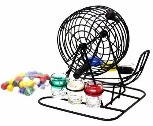 Bingo-Lotto-Trinkspiel-Set-bestehend-aus-6-Schnapsglsern-Mischtrommel-usw-Ideales-Trinkspiel