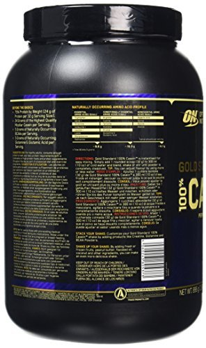 Optimum Nutrition 100 percentage Gold Standard Casein – Strawberry, 1er Pack (1 x 896g)
