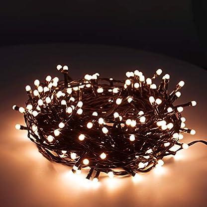 400er-LED-Lichterkette-Weihnachtsbeleuchtung-mit-Timer-Weihnachtsbaum-Amber