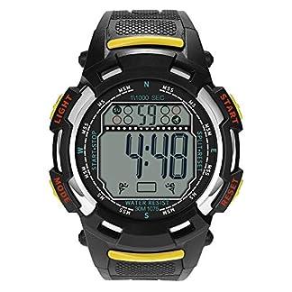 Godagoda-Herren-Armbanduhr-Digitale-Wasserdichte-Sportuhr-Schwimmuhr-Lederarmbandmit-Unisex-Outdoor-Alarmfunktion-als-Geschenk-fr-Mnner