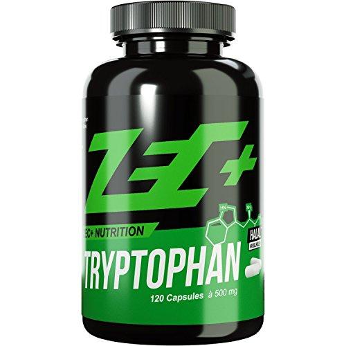 ZEC+ TRYPTOPHAN | Glücks-Aminosäure | L-Tryptophan | Steigerung des Wohlbefinden | Dämpft HEIßHUNGERATTACKEN | Vorstufe von Serotonin/Melatonin | hochdosierte 500 mg pro Kapsel | 60g
