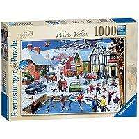 Ravensburger-13988-Freizeittage-No3-Das-Winterdorf-1000-Teile-Puzzle