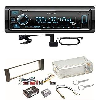 Kenwood-KMM-BT505DAB-Digitalradio-Bluetooth-Autoradio-USB-DAB-AUX-MP3-FLAC-AAC-WAV-Einbauset-fr-Audi-A4-B6-B7