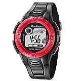 MJARTORIA-Herren-Junge-Armbanduhr-Digital-Display-Sport-Uhr-LED-Wecker-Datum-Stoppuhr-Wasserdichte-uhr-Rot