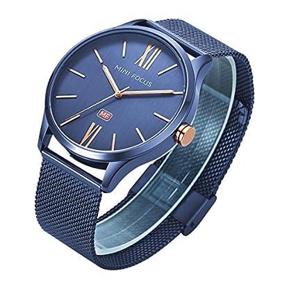 Uhren-Unisex-dnn-Blau-Mesh-Edelstahl-Wasserdicht-Armbanduhr-Herren-und-Damen-Quarz-Armbanduhr-fr-Mnner-Frauen-Damen