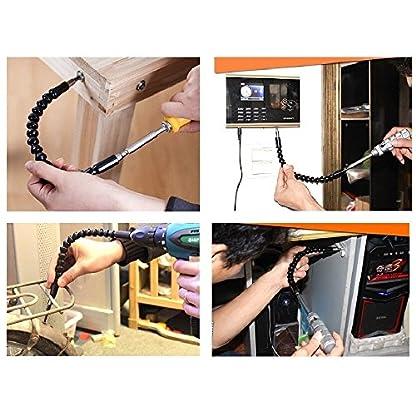 Flexibler-Schaft-Bits-Erweiterung-Schraubendreher-Bithalter-Schraubenzieher-Magnetisierer-Entmagnetisierer-Magnetischer-Schraubendreher-mit-Ratschenmechanismus-Griff-Schraubendreher-Head-Set