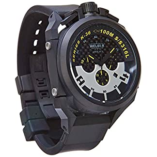 Welder-Herren-Armbanduhr-Chronograph-Silikonband-und-Zifferblatt-in-Schwarz-K36-2402