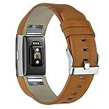 KZKR-Uhrenarmbnder-Uhr-Armband-Leder-fr-Fitbit-Charge-2-Armbnder-Ersatzband-Leder-Klassisch-Armband-20mm-braun-grau-B045