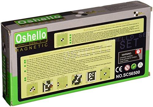 Azerus-Standard-Line-Klassisches-Reversi-Spielbrett-mit-magnetische-Spielsteinen-Standard-Brett-Gre-M-25cm-x-25cm-x-2cm-Spielbrett-dient-gleichzeitig-als-Reisebox-und-Aufbewahrungsschachtel-aus-Metall