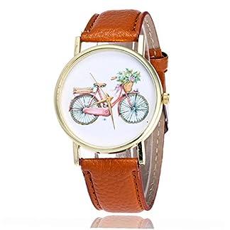 rainbabe-braun-Damen-Herren-artificiel-Leder-Band-Gurt-einfach-Fahrrad-Armbanduhr
