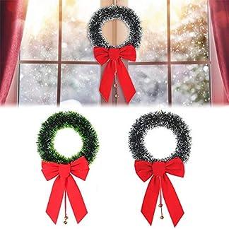 30cm-Weihnachtskranz-Trkranz-Weihnachten-Weihnachtsdeko-Kranz-Weihnachtsgirlande-Mit-Schleife-Bells-Handarbeit-Weihnachten-Garland-Deko-Kranz