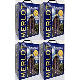 4-x-GRAND-SUD-MERLOT-Vin-de-Pays-dOc-3-Liter-BAG-IN-BOX