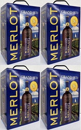 4-x-GRAND-SUD-MERLOT-Vin-de-Pays-dOc-3-Liter-BAG-IN-BOX