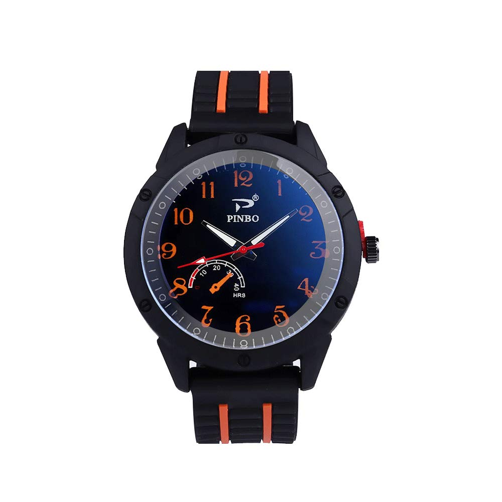 Godagoda-Herren-Armbanduhr-Analog-Minimalistischen-Silikonband-Quarzuhr-Outdoor-Sport-Uhr
