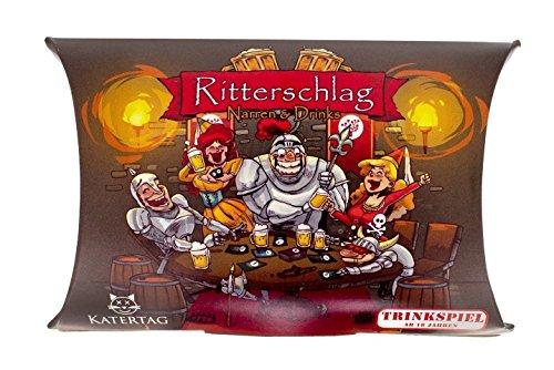 Katertag-Ritterschlag-Narren-und-Drinks-Das-kreativste-Trinkspiel-Aller-Zeiten-fr-Erwachsene-ab-18-Jahren-lustiges-Partyspiel-Trinkspiele