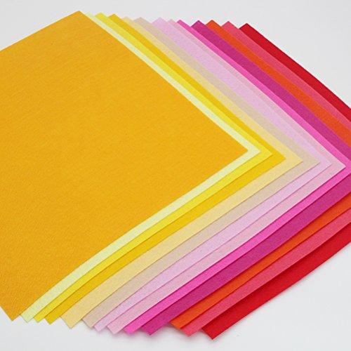 ULTNICE Bastelfilz Kinder DIY Filzstoff Bunt 40 Farben 10 x 15cm