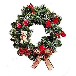 Weihnachtszeit-Weihnachten-Kranz-Adventskranz-Weihnachtsdeko-Weihnachtskranz-Tischdeko-Wanddeko-Dekoration-Kunststoff-Rosen-Kugel-Tannenzapfen-lachsfarbenen–30-cm