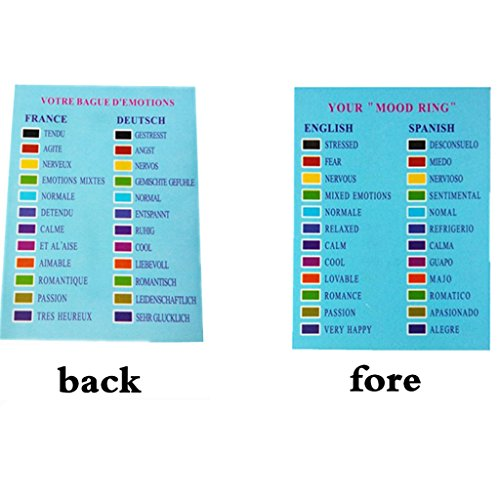 Gazechimp 10 Stk Kinder Stimmungsringe Farbwechselring Emotionaler Ring US Größe 6-10
