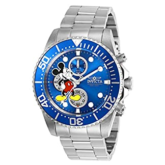 Invicta-27387-Disney-Limited-Edition-Mickey-Mouse-Herren-Uhr-Edelstahl-Quarz-blauen-Zifferblat