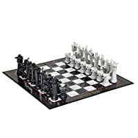 Harry-Potter-Schachspiel-Replik-aus-Stein-der-Weisen-Nachbildung-Schachfiguren-5-115cm-Spielbrett-47x47cm-lizenziert-Kunststoff