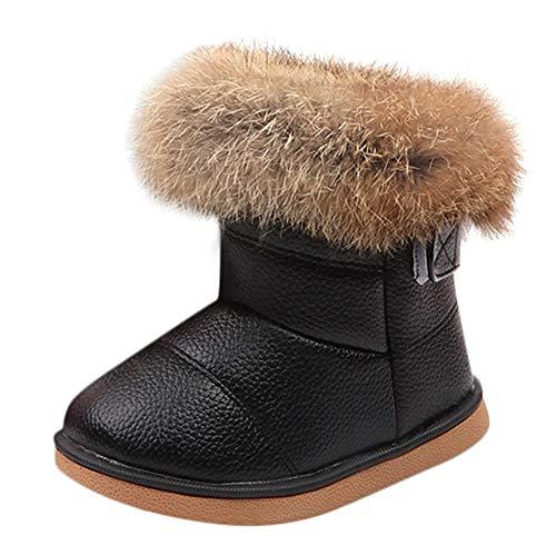 VENMO-Leder-Winter-Bootie-Warm-Schnee-Schuhe-Stiefel-Kinder-Mode-Mdchen-Baby-Stiefel-Watte-Gepolsterten-Schuhe-Kaninchen-Haar-Dicker-Schnee-Stiefel-Warm-Schuhe