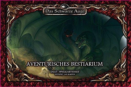 Spielkartenset-Aventurisches-Bestiarium-Deluxe-Das-Schwarze-Auge-Zubehr