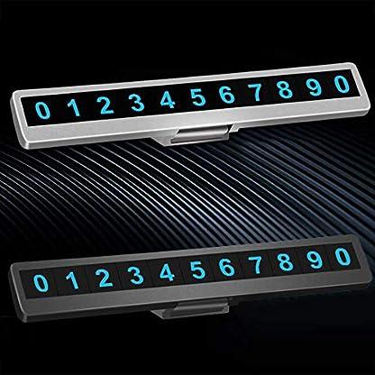 Temporre-Parkkarte-ONEVER-Notfallkontakt-Nummernschild-Glow-in-Night-Luminous-Kreative-Privatsphre-Auto-Telefon-Nummer-Card-Plate