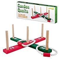 Parkland-Wooden-Garden-Indoor-Outdoor-Quoits-Family-Pegs-And-Rope-Hoopla-Game-by-Parkland