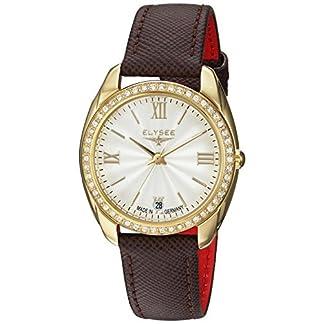 Uhr-mit-Strass-Diana-von-Elysee-Edle-Damenuhr-Gold-Strass-besetzt-Hochwertiges-Kalbslederarmband-in-Dunkelbraun-Kombinierbar-zu-Gold-Schmuck