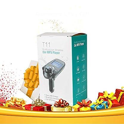 Bluetooth-FM-Transmitter-Freisprecheinrichtung-Auto-KFZ-Radio-Adapter-Car-Kit