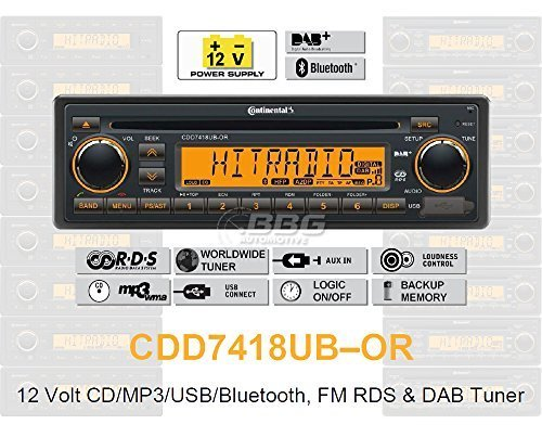 Continental-CDD7418UB-OR-CDMP3-Autoradio-mit-Bluetooth-DAB-USB-AUX-IN