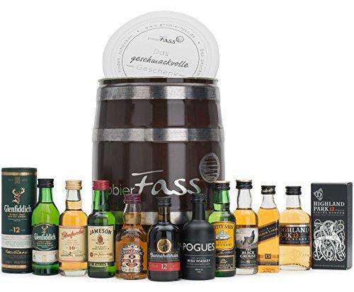 probierFass-Whisky-Set-10-beliebte-Whisky-Klassiker-10-x-005-l-in-einem-originellen-Fass-mit-Geschenkverpackung-Whiskey-Probierset-Whisky-Geschenk