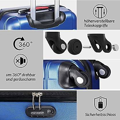 Monzana-Baseline-4er-Set-Koffer-Farbwahl-S-M-L-XL-Gelgriffe-Zahlenschloss-Reisekoffer-Trolley-Kofferset-Rollkoffer