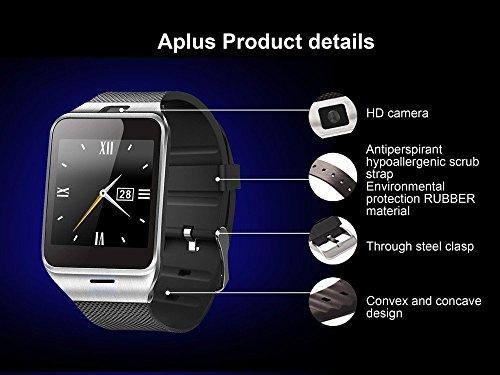 kxcd-Bluetooth-Smart-Watch-dz09-Smartwatch-GSM-SIM-Karte-mit-Kamera-fr-Android-iOS-Silber