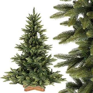 FairyTrees-Weihnachtsbaum-knstlich-NORDMANNTANNE-Premium-Material-Mix-aus-Spritzguss-PVC-inkl-Holzstnder-FT24