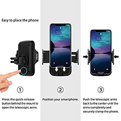 YOSH-Handyhalter-frs-Auto-Lftung-Handyhalterung-Auto-Handy-KFZ-Halterung-Handy-Autohalterung-fr-iPhone-XS-Max-XR-X-8-7-Samsung-S10-S9-S8-Note-9-8-Huawei-P20-Pro-Mate-20-Pro-Pixel3-LG-GPS-usw