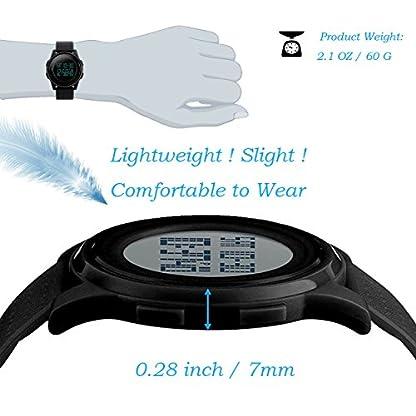 Herren-Digitaluhr-Militr-Sportuhren-fr-Mnner-Big-Face-Gummiband-50M-Wasserdicht-mit-Hintergrundbeleuchtung-Schwarz-von-FunkyTop