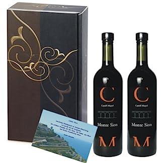 Weingeschenk-Geschenkset-Castell-Miquel-Cuve-Monte-Sion-Rotwein-2er-Geschenk-Set-elegance