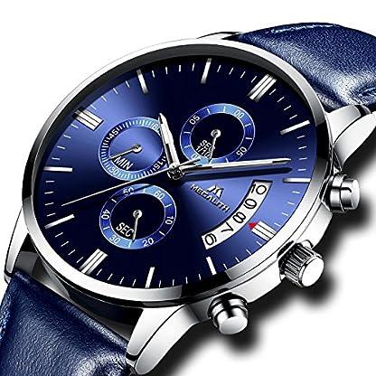 Herren-Uhren-Mnner-Wasserdicht-Sport-Militr-Chronograph-Lederband-Armbanduhr-Luxus-Mode-Datum-Kalender-Analog-Quarz-Blau-Uhr