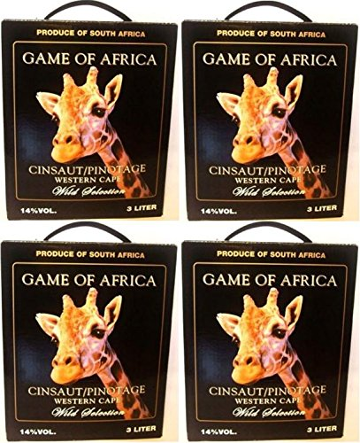 4-x-GAME-OF-AFRICA-CINSAUT-PINOTAGE-Bag-in-Box-3l-14-Incl-Goodie-von-Flensburger-Handel