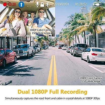 Z-Edge-GPS-Dashcam-Dual-Autokamera-27-Zoll-LCD-Bildschirm-Ultra-HD-1440P-mit-Innenkamera-Full-HD-1080P-Infrarot-Nachtsicht-150-Weitwinkelobjektiv-Loop-Aufnahme-G-Sensor-Bewegungserkennung