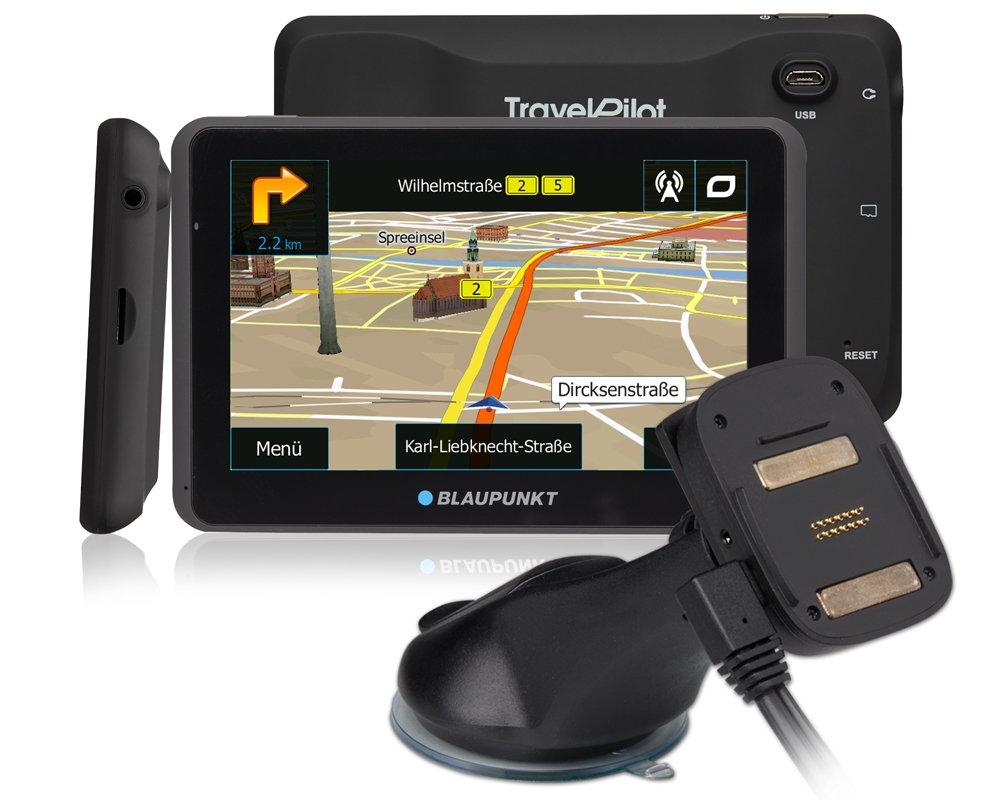 Blaupunkt-TravelPilot-65-Active-EU-LMU-Navigationssystem-mit-Aktiv-Halter-kapazitives-Echtglas-Touch-Farb-Display