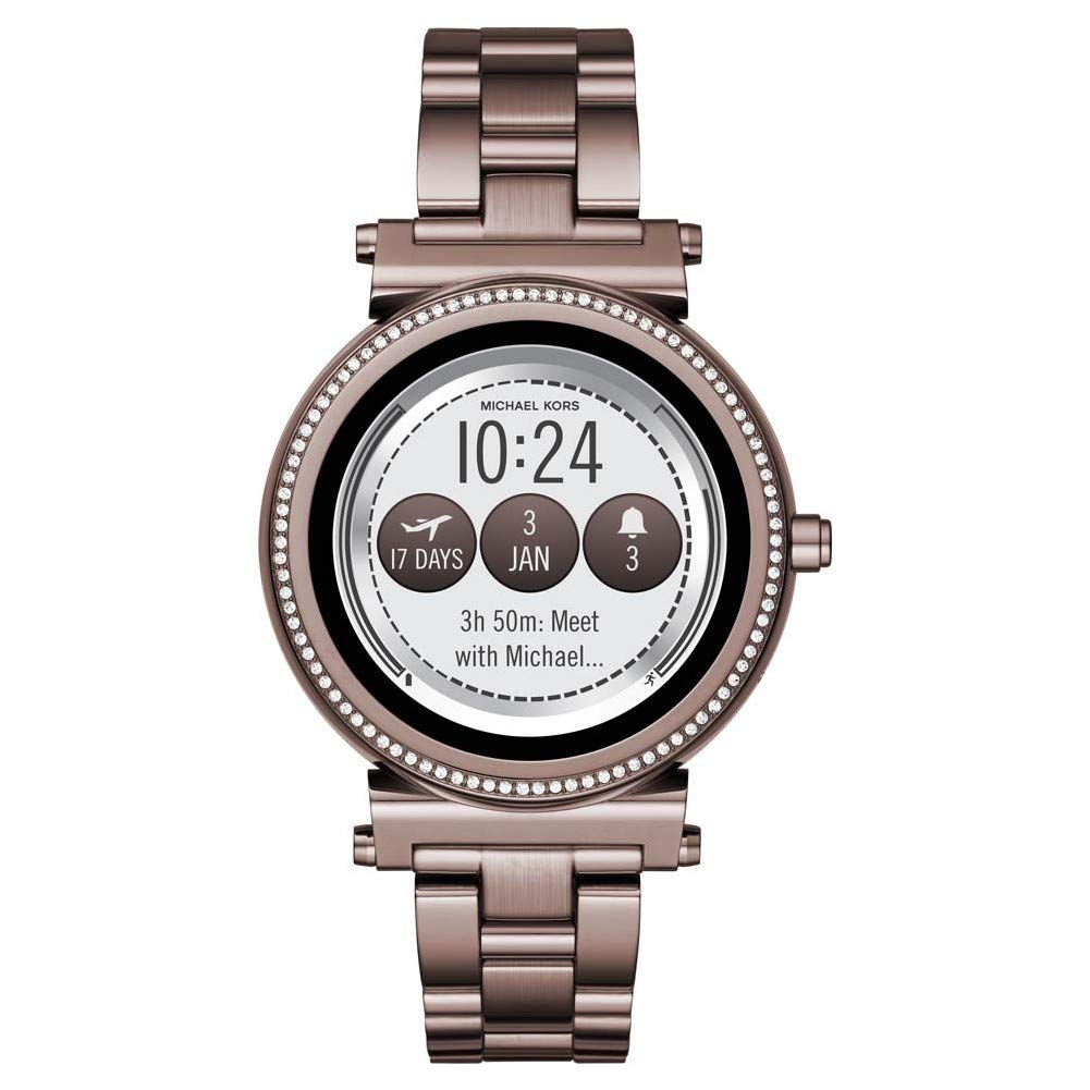 Michael-Kors-Damen-Digital-Smart-Watch-Armbanduhr-mit-Edelstahl-Armband-Sofie
