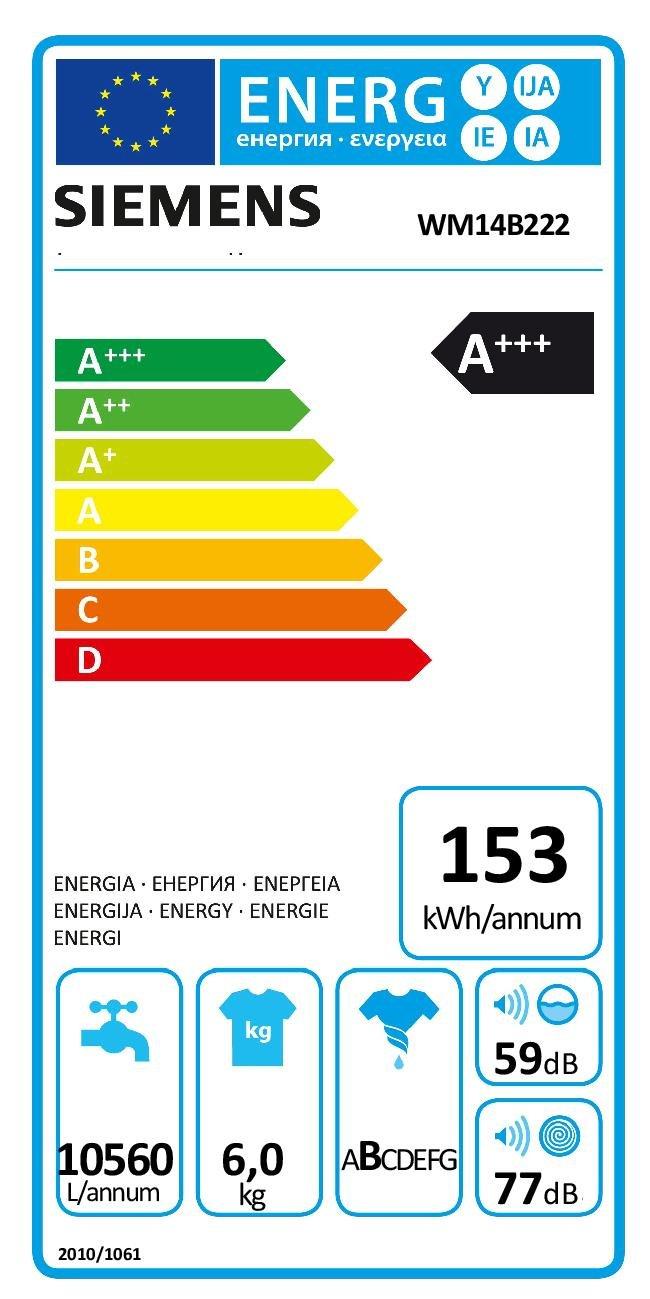 Siemens-iQ100-WM14B222-Waschmaschine-600-kg-A-153-kWh-1400-Umin-Schnellwaschprogramm-15-Minuten-Waschprogramm-Hygiene-Programm